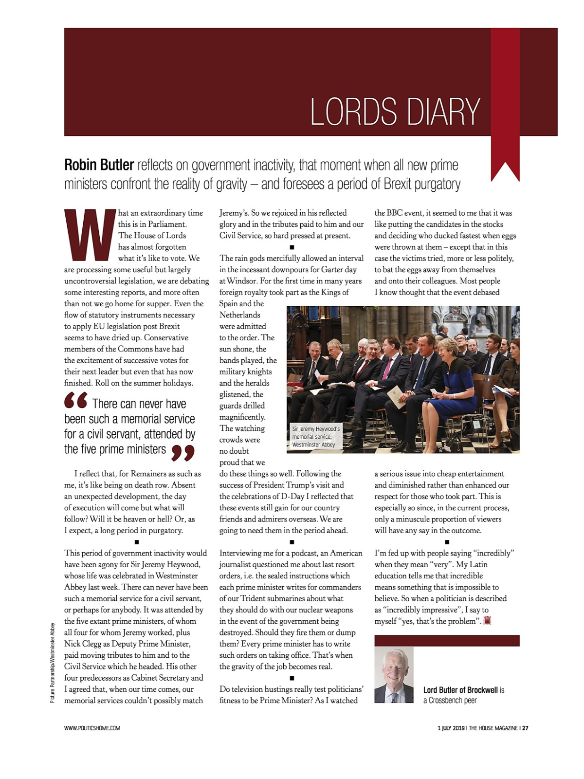 MYEBOOK - The House Magazine Issue 1658 - 01 July 2019
